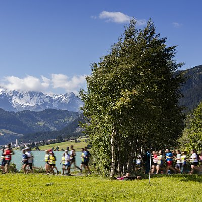 Run event at Reschensee - Resia lake